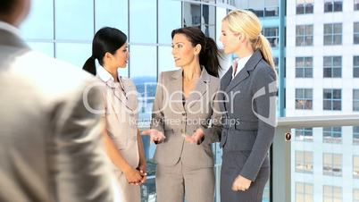 Multi Ethnic Business People Greeting Each Other