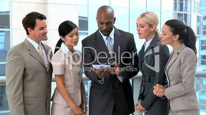 Ambitious Business Team Congratulating Each Other