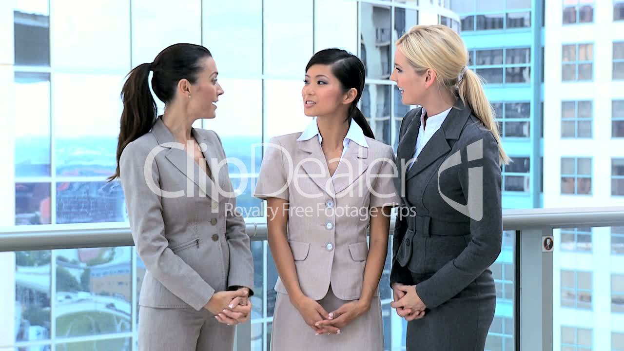 Multi Ethnic Business People Greeting Each Other Royalty Free Video