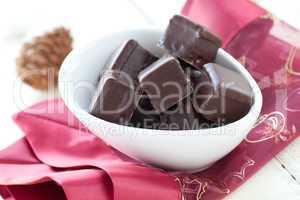 frische Dominosteine / christmas gingerbread with chocolate