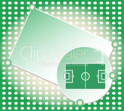 soccer football field green greetings card vector