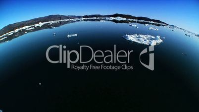 Frozen Sea Ice in Wide Angle