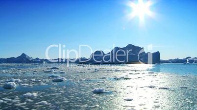 Large Iceberg Adrift in the Arctic