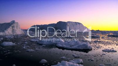 Dusk over Icebergs & Ice Floes