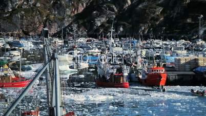 Fishing Harbour in Polar Arctic Region