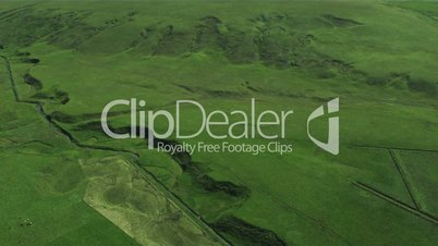 Aerial View of Agricultural grazing Land, Arctic Region