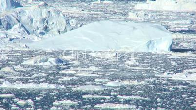 Time lapse Nautical Vessel in Ice Floes