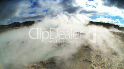 Steam From Underground Volcanic Springs