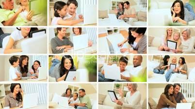 Menschen mit Technologoe