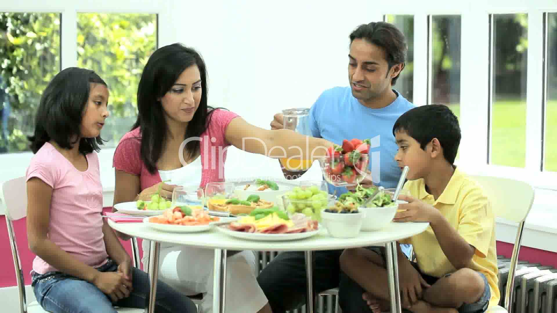 Attractive Asian Family Eating Together Royalty-Free Video And Stock Footage-1997