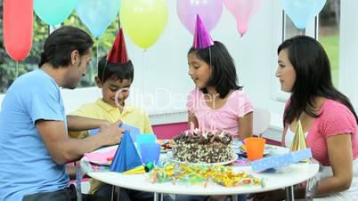 Asian Birthday Boy Receiving Birthday Gift