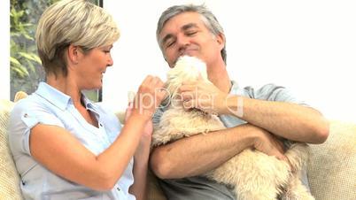 Ehepaar mit dem Hund