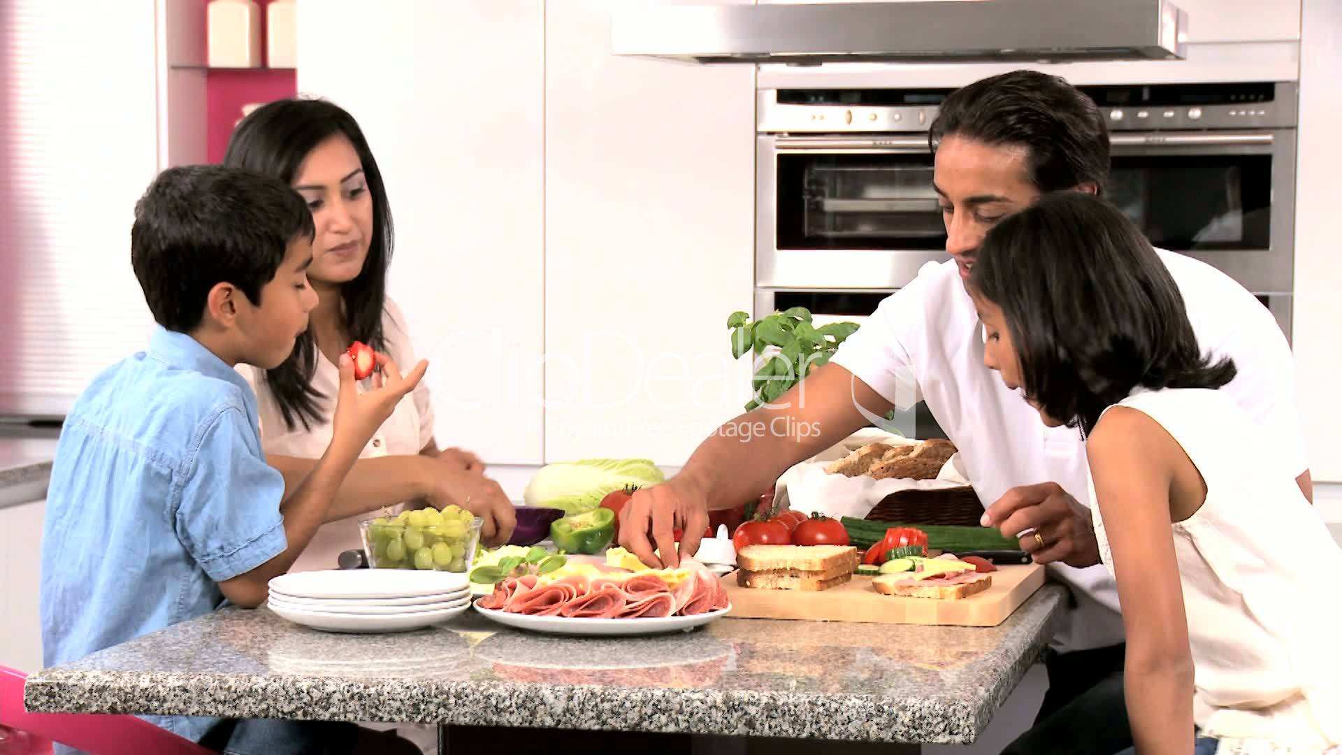 Asian Family Preparing Healthy Meal Together Royalty-Free Video And Stock Footage-8817