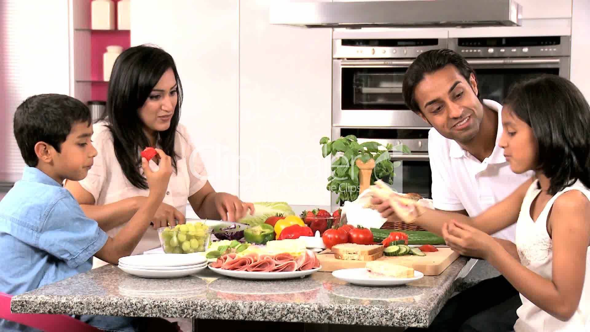 Young Asian Family Making Healthy Lunch Together Royalty-Free Video And Stock Footage-8278
