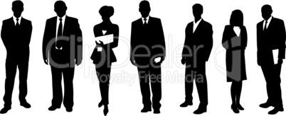 Business Menschen Silhouetten