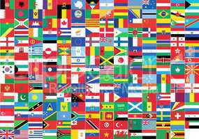 world flags giving a message of union