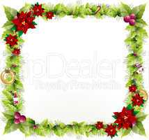 Christmas background design to add any text in the middle.