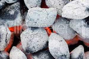Closeup of charcoal