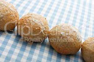 Whole meal bread rolls