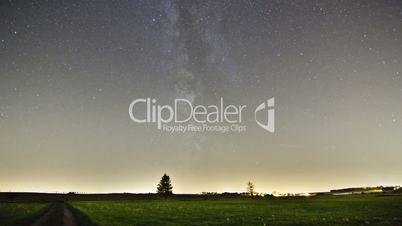 Milky Way Timelaps Pan