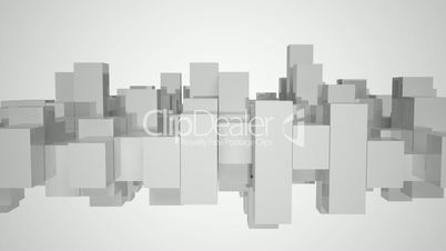 Gray and white equalizer bars