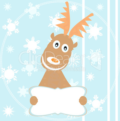 Reindeer Rudolph for merry christmas snowflake