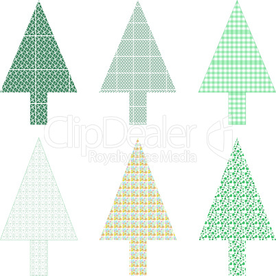 Abstract green christmas tree greeting card vector