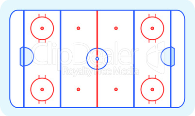 ice hockey field greetings card vector