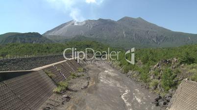 Sakurajima Volcano Releasing Toxic Gases