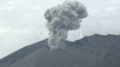 Sakurajima Volcano Erupts Ash Cloud
