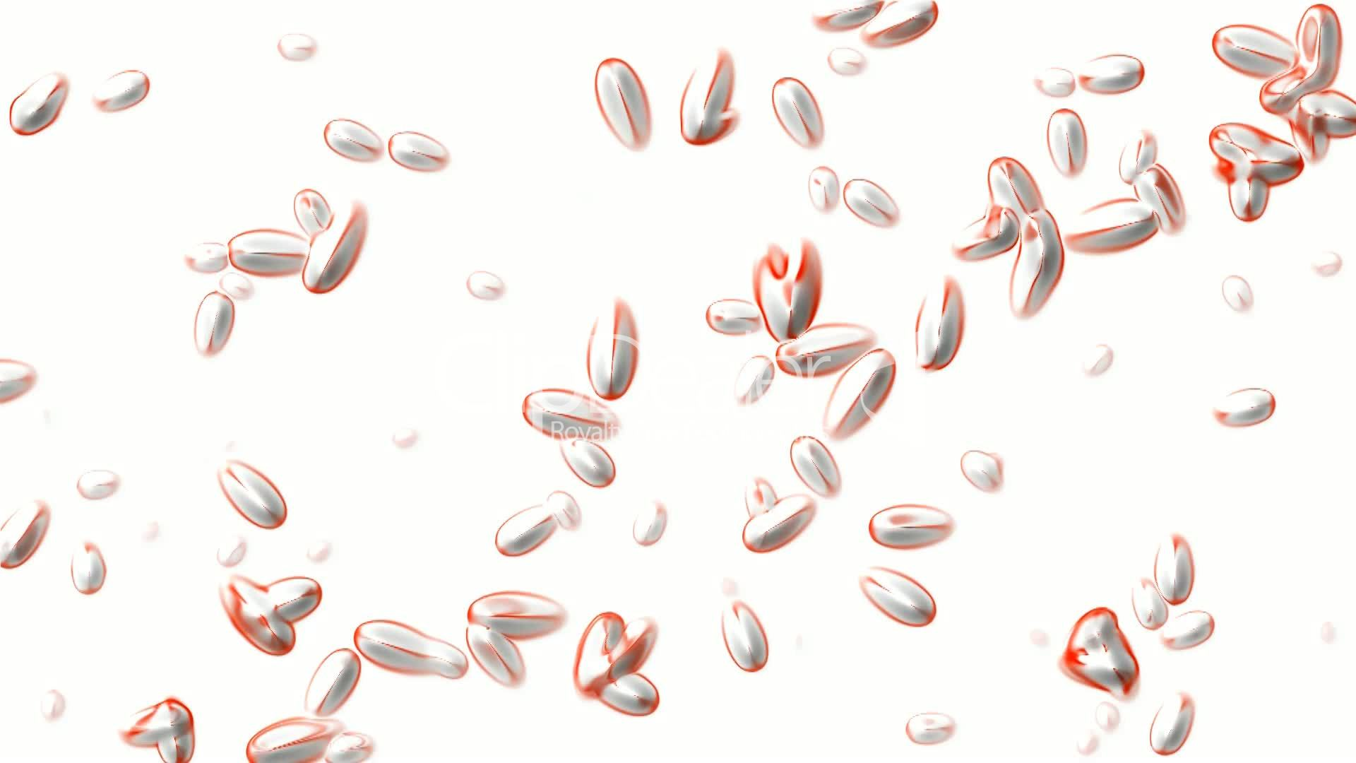 Cells And Red Planktonworm And Bubble Soapmicrobeseed Spore