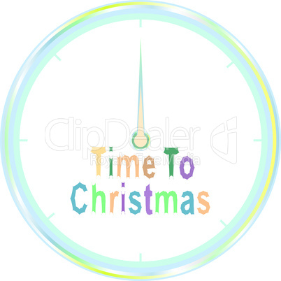 time to christmas vector clock isolated on white background