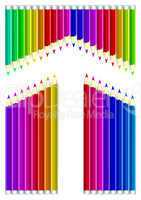 Colored pencils heart shape