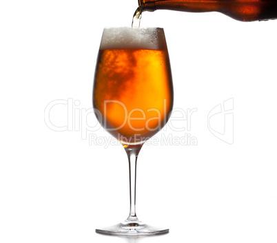Large beer goblet chilled