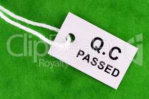 Quality Control Passed