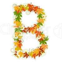 Pattern floral letter B