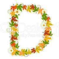 Pattern floral letter D