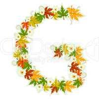 Pattern floral letter G