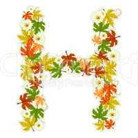 Pattern floral letter H