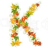 Pattern floral letter K