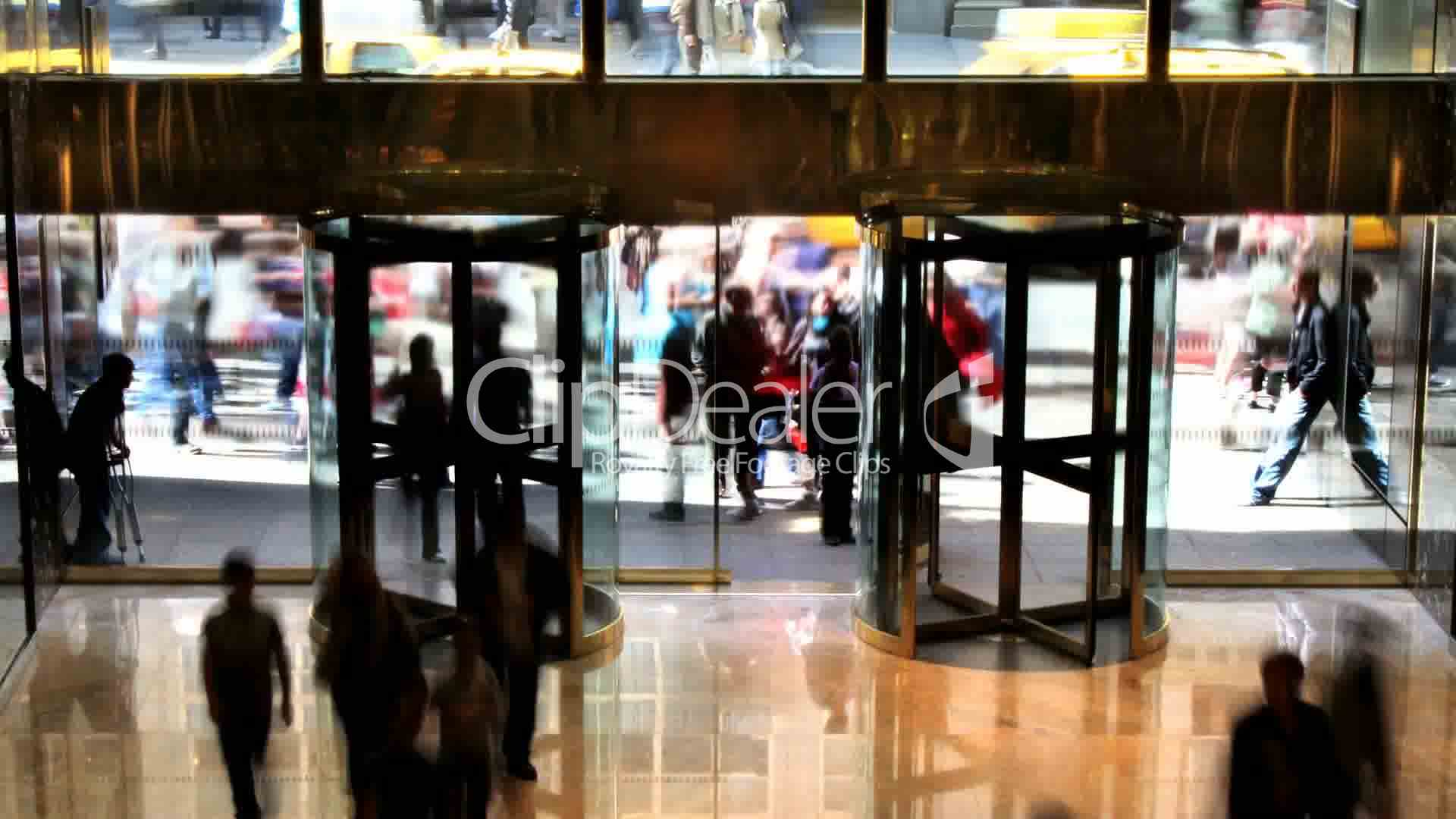 Clips. Revolving Doors ... & Revolving Doors Time Lapse: Royalty-free video and stock footage