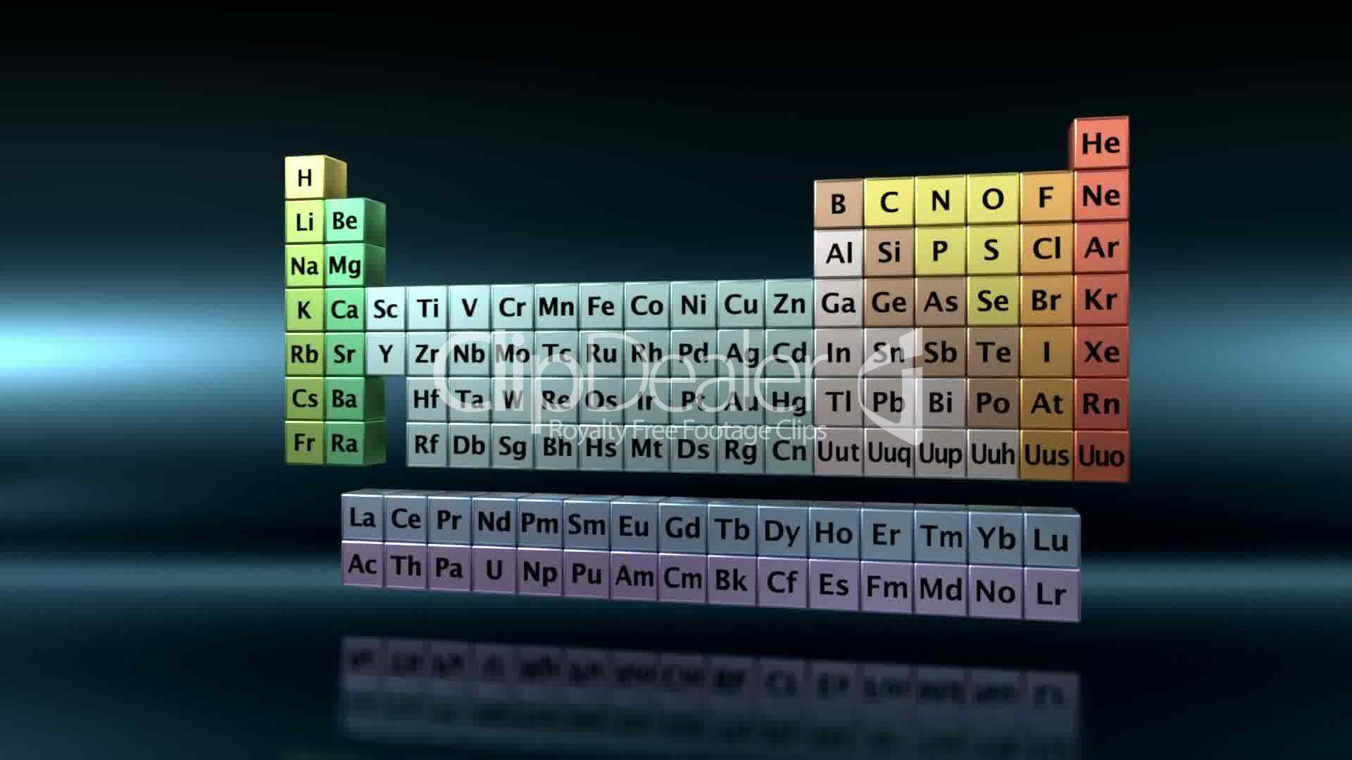 Periodic table of the elements vid os et clips libres de for 11 20 elements on the periodic table