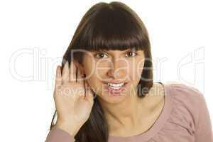 Woman listening to gossip