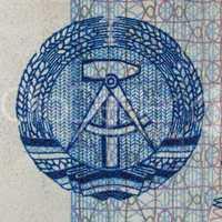 DDR banknote