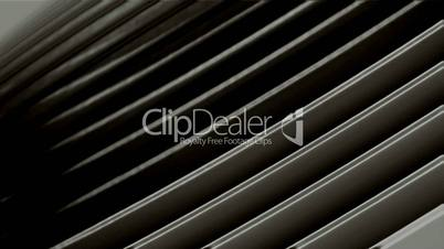 scroll tilt metal panel in space,flowing blinds,web tech board.