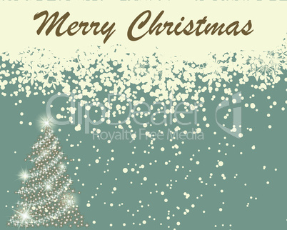 Retro vector Christmas (New Year) card