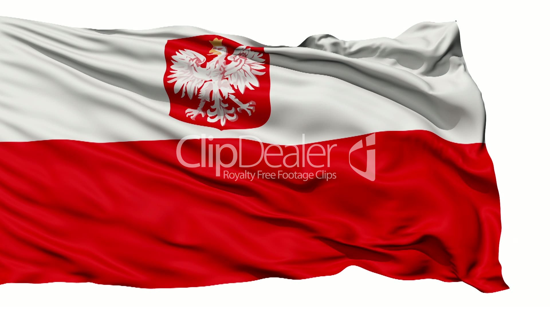 flag of poland royalty free video and stock footage