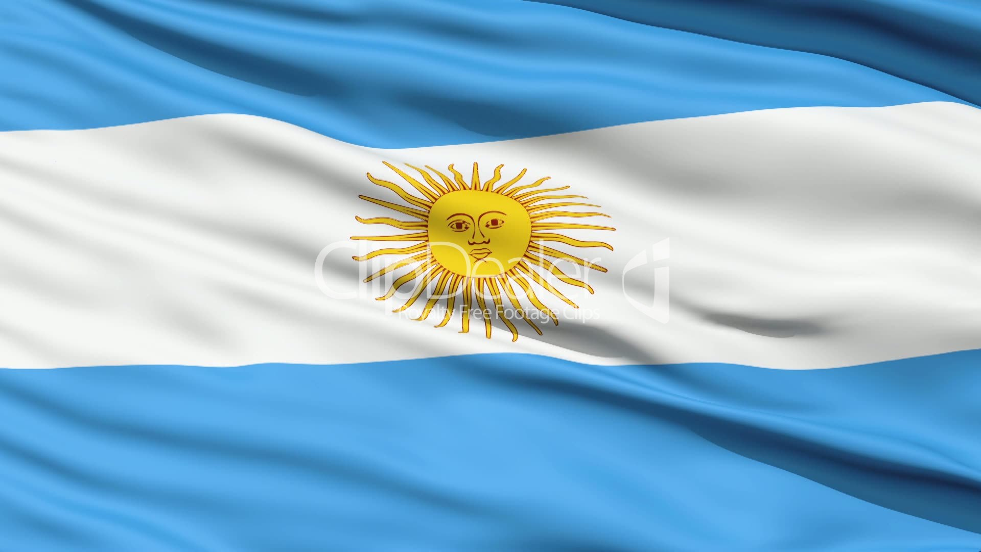 Flag Of Argentina Close Up Background Royalty Free Video And Stock