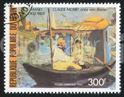 Monet in Boat