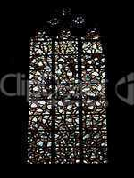 Gothic cathedral glass